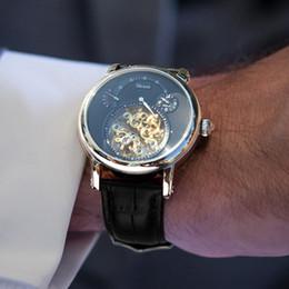 Uomini di riserva di riserva uomini meccanici orologi online-Orologio meccanico per uomo impermeabile luminoso Riserva di carica quadrante trasparente Relogio Masculino Erkek Kol Saati