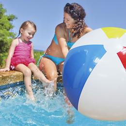 ballons spiele Rabatt 107 CM 42 zoll Super Großen Charme Bunte Aufblasbare Wasserball Im Freien Spielen Spiele Ballon Riesen Volleyball PVC Pool Accessorie