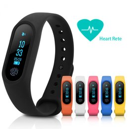 Wholesale Fitness Wristbands - M2 Fitness tracker Watch Smart Band Heart Rate Monitor Activity Tracker Waterproof Smart Bracelet Pedometer Health Wristband With Box