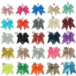Bébé cheveux arc mode en Ligne-Baby Sequin Bandeaux Fashion Girls Glitter Bows bandeaux Bling enfants Accessoires de cheveux 25 couleurs Bande de caoutchouc C4372