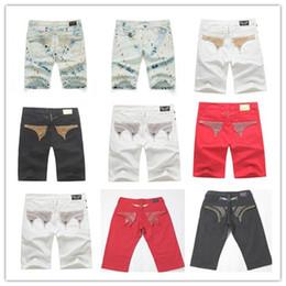 Pantalones cortos de verano para hombres con cadena de ala pantalones cortos de mezclilla cremallera poctets estilo de calle culturismo para hombre jeans kany west robbin diseñador 3 desde fabricantes