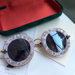 848b13602778e quadro redondo branco Desconto Luxo 0113S Óculos De Sol Para As Mulheres  Designer de Moda 0113
