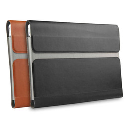 "Wholesale Leather Computer Sleeve - Case Sleeve For Lenovo Yoga 6 Pro 920 13.9"" Laptop Bag leather File pocket Holster Computer for Yoga 920 yoga920 Covers laptops"