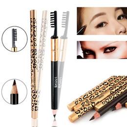 Canada 1 PC Perfect Leopard Ombres à sourcils Étanche Longlasting Maquillage Outil Crayon + Pinceau Mode Féminine 5 Couleurs supplier perfect make up Offre