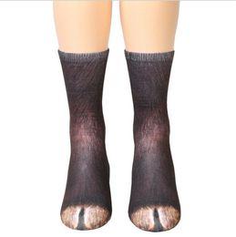 Мультфильм для взрослых кошек онлайн-взрослые животные лапы ноги носки унисекс взрослых животных кошка собака ноги экипажа носки 3d печати спортивные носки дети цифровой печати моделирования 13 типов