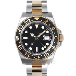 Wholesale gold sub watch - 2018 roles New mens watch SUB AAA quality GMT ceramics bezel gold watch sapphire glass original Stainess clasp watch men wristwatch