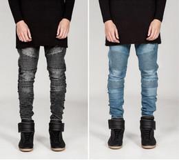 Marchi falsi abbigliamento online-Nuovi jeans famosi uomini di marca Skinny Plus Size Disel Design Slim Straight Jean Maschio Jeans strappati pantaloni falsi abiti firmati