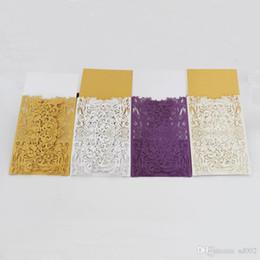 Tarjetas de felicitación de estilo europeo Patrón de flor tallada delicada Ahuecar tarjetas de invitación Fuentes de Navidad Multi Color 1 dw 5wb desde fabricantes