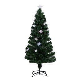 L'albero di Natale di fiocchi di neve Decorativo Indoor Outdoor LED cambia colore LED fibra ottica artificiale luci Spina americana alta da