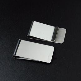 Clip de dinero titular de dinero de la moda titular de la tarjeta de crédito simple Clip de billetera de acero inoxidable creativo Hombres regalo para hombre 26 * 50 * 0.8 mm al por mayor desde fabricantes