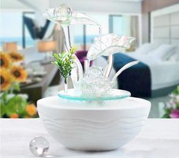 Wholesale beautiful craft rooms - Indoor Water Fountain With Led Lights Coast Tiered Rock Bowl Fountain Beautiful Arts and Crafts