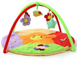 Wholesale Educational Baby Carpet - Sunflower Baby Playmat Musical Play mats With Toys Infant Game Mat Cushion Children Carpet Crawling Tapete Educational Toys 95cm
