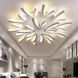 Lámpara de diente de león online-Control remoto Acrílico moderno diente de león forma araña Interior decoración para el hogar Moda LED araña llevó la lámpara Ceilling
