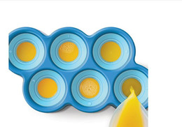 Caricaturas de helado de verano online-Ecológico Organboo 1pc Summer 6 Ugly Fish-Shaped Ice Cream Mold Sticks de silicona Ice Mold Cover Diy Cartoon Popsicle Molds Holder