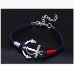 2019 bracelet d'ancrage à la main Nouveau Mode Hommes Bracelet Bijoux Homme Ancre Bracelet Bracelet Charme Braclet pour Manches Accessoires Main Manchette bracelet d'ancrage à la main pas cher