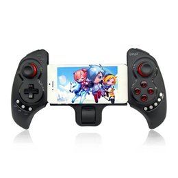 Bluetooth controller di gioco ios online-PG9023 Controller di gioco Bluetooth Gamepad Supporto telescopico Joystick di design con staffa elastica per iPhone6 ​​Plus iOS Android MQ 5