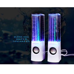 Wholesale Led Dancing Water Fountain Speakers - Dancing Water Fountain Music Sound Novelty Light LED Portable Audio Active Speaker Gift Lamp Bluetooth Desk Night Light