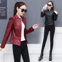 Canada Hodisytian Hiver Nouvelle Mode Femmes Veste Slim PU En Cuir Manteau Zipper Biker Vestes Jaqueta Femme Cardigans Casaco Feminino cheap xxs leather Offre