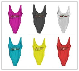 Wholesale swimsuit women xl - 2018 Summer New Arrival 18ss Luxury Designer GG Polyester Women Swimsuit Backless Triangle One-Piece Swimwear Vest Sexy Bikini