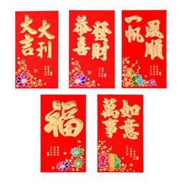 Sobre rojo año nuevo chino online-50pcs / set Año Nuevo Red Envelope Wedding Red Envelope Chino Año Nuevo Red Pocket Spring Festival