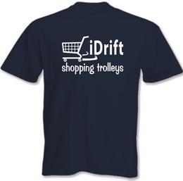 Discount boys purple t shirt - I Drift Shopping Trolleys - Kids Boys Girls Kids Funny T-Shirt Drifting NB S Funny free shipping Unisex Casual tshirt gift
