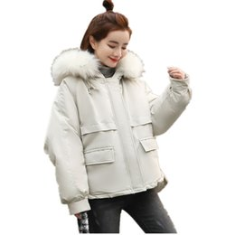 feminine clothing for women Promo Codes - Warm Hooded Fur Collar Cotton Long Parka Plus Size Women Winter Coat Jacket 2018 Clothing For Mujer Feminine De Inverno Casaco S18101204