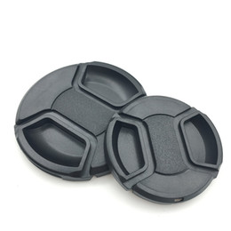 Wholesale Lens Cap 49 - Universal Camera Lens Cap Protection Cover 49 52 55 58 62 67 72 77 82mm lens cover With Anti-lost Rope Free Shipping