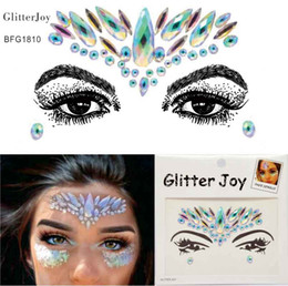 Wholesale Rainbow Gems - BFG1810 Rainbow color Cosmetic Face Gem Fusion Makeup Making you shine at Party, Festivals