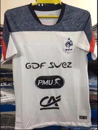 Wholesale Football Training Vests - Top Thai quality 2017 team Training suit white vest short-sleeved soccer jersey shorts shirt Size S-2XL 17 18 survetement football