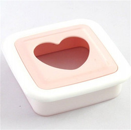 Sándwich de bolsillo online-Sandwich molde herramienta de cocina para hornear Pan Pita DIY productor de plástico Love Shape Pocket máquina de pan creativo 2 05nh V