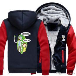 Wholesale B Cardigan - 2018 Hot USA SIZE Men Winter Autumn Hoodies RICK PEACE AMONG WORLDS pattern Fleece Coat Baseball Uniform Sportswear Jacket wool -B