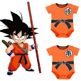 Trajes de halloween online-Dragon Ball Baby Jumpsuit Newborn Boys Boys SUN GOKU Todes Bebes Jumpsuit Disfraces de Halloween para Baby Boy Girl Y1891203