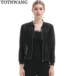 5b1f9a12cf48 Women Black White Lace Jacket Summer 2018 Womens Cardigan Long Sleeve Sexy Hollow  Out Jackets Office Lady Short Coat Tops CS521