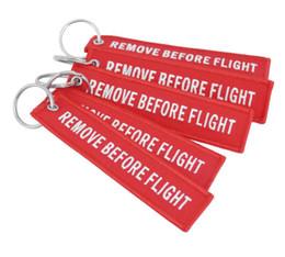 2019 quitar etiquetas Nuevo llavero QUITAR ANTES DEL VUELO Lienzo bordado Color Llavero opcional Etiqueta de etiqueta de equipaje Aviación Accesorios de moda quitar etiquetas baratos