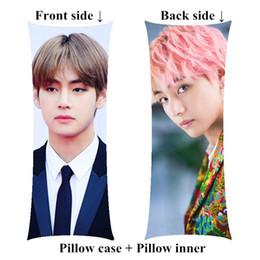 2019 almohadas de cuello de animales al por mayor Kpop V Bangtan Boys abrazando las almohadas corporales incluyen el interior de Kim Tae Hyung, una almohada larga y suave para requisitos particulares, personalizar el regalo de cumpleaños
