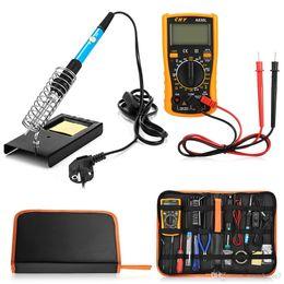23 in 1 Çok kullanımlı Havya Araçları Çeşitli Elektronik Cihazlar için Multimetre Dijital DC AC Voltmetre Direnci Test Cihazı Set ... cheap ac tester nereden ac test cihazı tedarikçiler