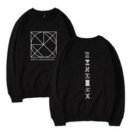 Wholesale Korean Style Men S Clothing - MONSTA X Kpop Hoodies Sweatshirt Women Men Sweatshirts Female Sweatshirt Kpop Korean Style Fans Warm Clothes