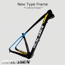 "Wholesale Mountain Bike Frame Sizes - Deacasen Carbon fiber mountain carbon bikes frames 29er bicycle frameset size 15""17""19"" BB shell PF30 glossy finished"