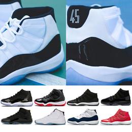 stagno scarpa Sconti Classica 11 Prom Night Scarpe da basket Uomo Donna 11 Platinum Tin gamma blu Midnight Navy blu universitario spazio marmellata Athletic Sport Sneaker
