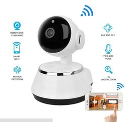 Wholesale cctv box ip camera - Pan Tilt Wireless IP Camera WIFI 720P CCTV Home Security Cam Micro SD Slot Support Microphone P2P Free APP ABS Plastic with retail box