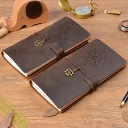 vendas de avião Desconto Venda quente 100% Couro Genuíno Notebook Bússola Do Vintage Handmade Plane Diário Diário Sketchbook Planejador Comprar 1 Obter 11 Acessórios