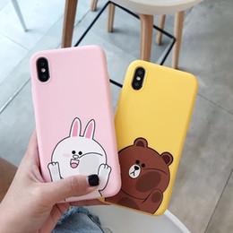 Canada Apple 8 coque de téléphone portable 7plus housse de protection iPhone6s tout compris anti-goutte gommage bande dessinée mignon téléphone mobile dépoli Offre