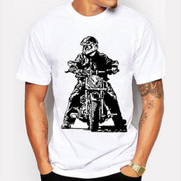 Wholesale Young Living - Summer Men I might be old school but I live young and I'll die free T Shirt Fashion Novelty Short Sleeve Tee Motorcycle theme