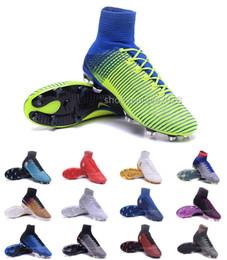 Wholesale soccer shoes indoors - Men Women Football Boots Neymar Hypervenom Phantom JR Magista Obra 2 Mercurial x EA SPORTS Superfly CR7 FG Soccer Cleats Ankle Soccer Shoes