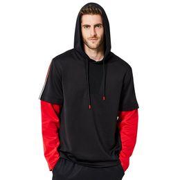Marchi falsi abbigliamento online-Hot Mens Falso 2pcs Felpe 2018 Autunno Primavera Designer Casual Brand Abbigliamento Felpa con cappuccio