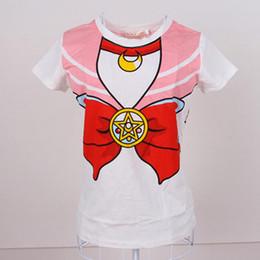 1e90bb1d4 Wholesale- 2016 new Hot Sailor moon harajuku t shirt women cosplay costume  top kawaii fake sailor t shirts girl new Free Shipping