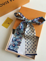 Wholesale small handle bag - Colors New Silk Small Women Fashion Scarf Hair Bags Handle Decoration Tie Multifunction Hand Ribbon Scarf