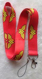 Wholesale Wholesale Superheros - Free Shipping New 30 Pcs Cartoon DC Comics Superheros Wonder Woman Cell Phone Neck Strap Lanyards