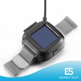 relógio de carga fitbit Desconto Para Fitbit versa Charger Carregador de substituição Cabo de alimentação USB Carregamento da bateria Cradles Dock para Fitbit versa Smart Fitness Watch Em stock