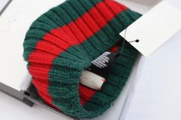 Wholesale Turban Men - Designer wool striped Headbands Fashion Luxury Brand Elastic green red Turban Hair bands Scarf For Women and Men Retro Headwraps Gifts